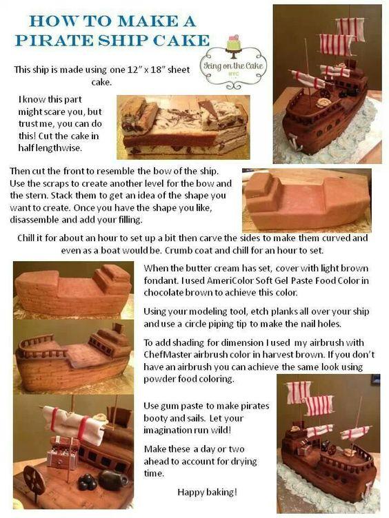Pirate Ship Cake Chocolate Fingers