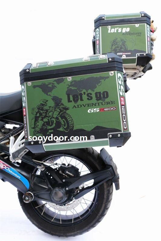 3 X R1200gs Adv Army Green Let S Go Adventure 2018 Pannier Box Reflective Decal Sticker Motocicletas Bmw Gs 1200 Adventure Bmw