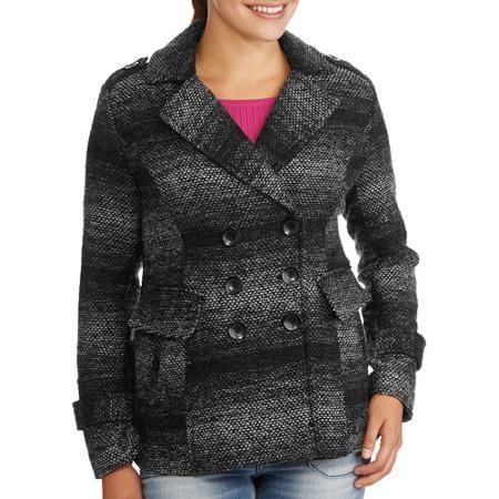 Women's Essential Double Breasted Wool Blend Peacoat - Walmart.com XXL $30