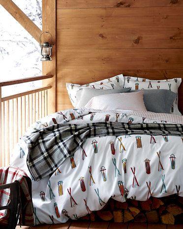 Ski Day Flannel Bedding Steamboat Ski Lodge Pinterest