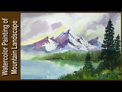 Watercolor Painting Watercolor Tutorial Of Simple Mountain And