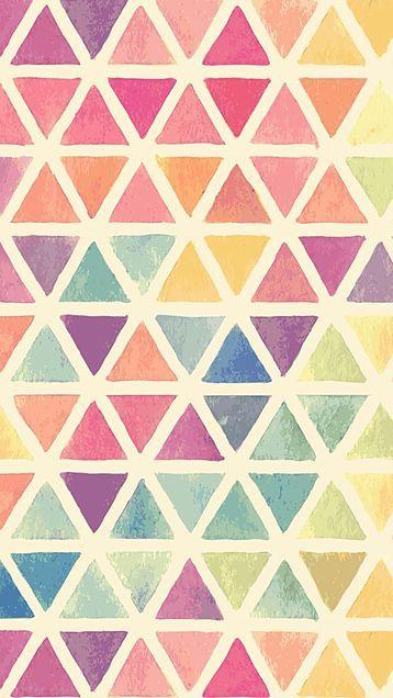 カラフルな三角の幾何学模様