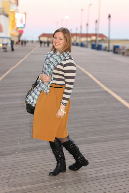 Mustard, Stripes and a Bauble Bar Giveaway!