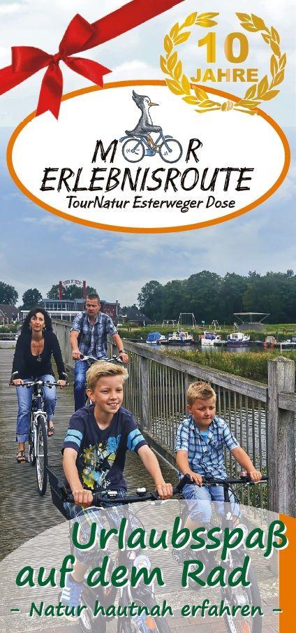 Fahrradurlaub, Radkarte, Radfahren, Streckenplan, Moorerlebnisroute, Kartenmaterial, Bestellung unter Tel.: 04952/903230