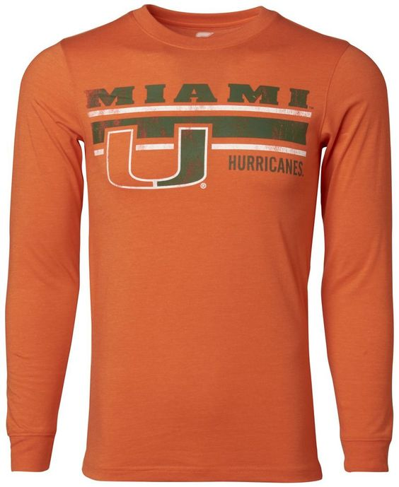 Colosseum Men's Long-Sleeve Miami Hurricanes Warrior T-Shirt