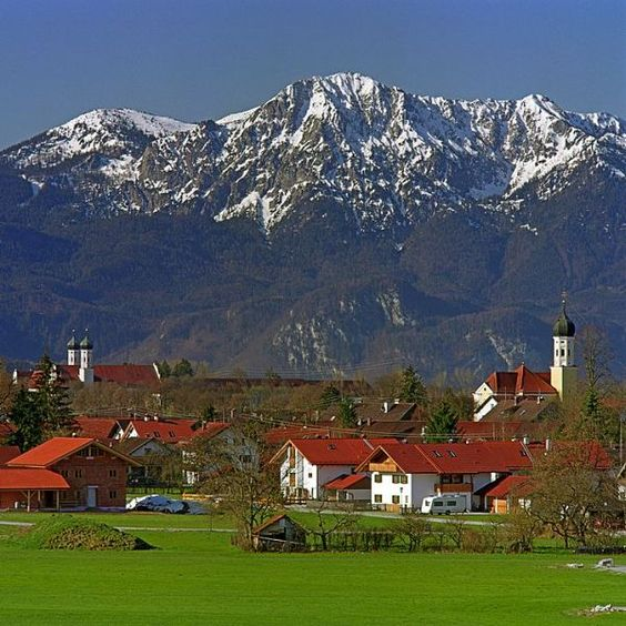 Bichl and Benediktbeuren, located on the Bodensee Konigsee Bike Route across Bavaria, Germany.