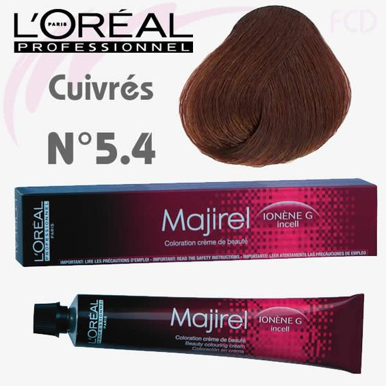 majirel 54 chtain clair cuivr - Color Mask Chatain Clair