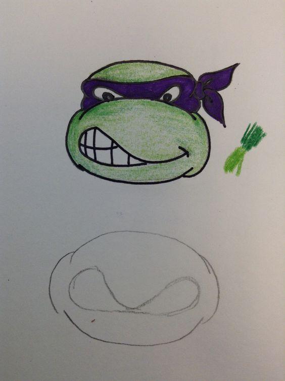 how to draw a ninja turtle machall