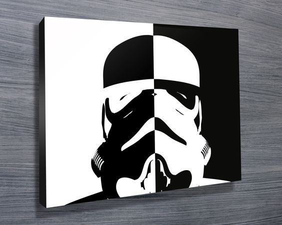 stormtrooper black and white pop art http www. Black Bedroom Furniture Sets. Home Design Ideas