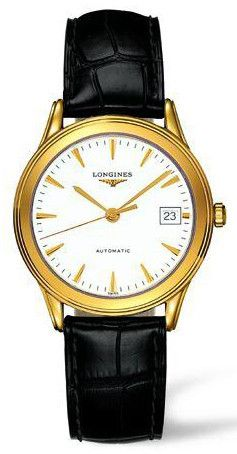 Longines Watch Flagship Mens #bezel-fixed #bracelet-strap-alligator #brand-longines #buckle-type-tang-type-buckle #case-depth-7mm #case-material-yellow-white-gold #case-width-35-6mm #date-yes #delivery-timescale-1-2-weeks #dial-colour-white #gender-mens #luxury #movement-automatic #official-stockist-for-longines-watches #packaging-longines-watch-packaging #sku-lng-383 #subcat-flagship #supplier-model-no-l4-774-6-22-2 #warranty-longines-official-2-year-guarantee #water-resistant-30m