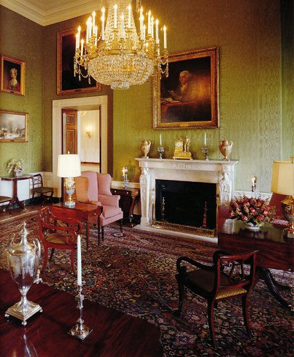 The Interior Of The White House Quot Green Room Quot Facing