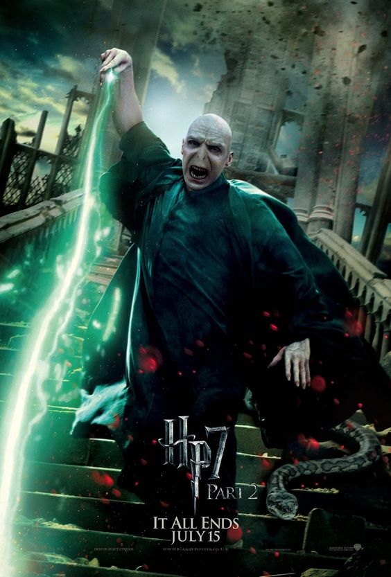 Lord Voldemort (Ralph Fiennes) in Harry Potter and the Deathly Hallows Part 2 #HarryPotter #3D