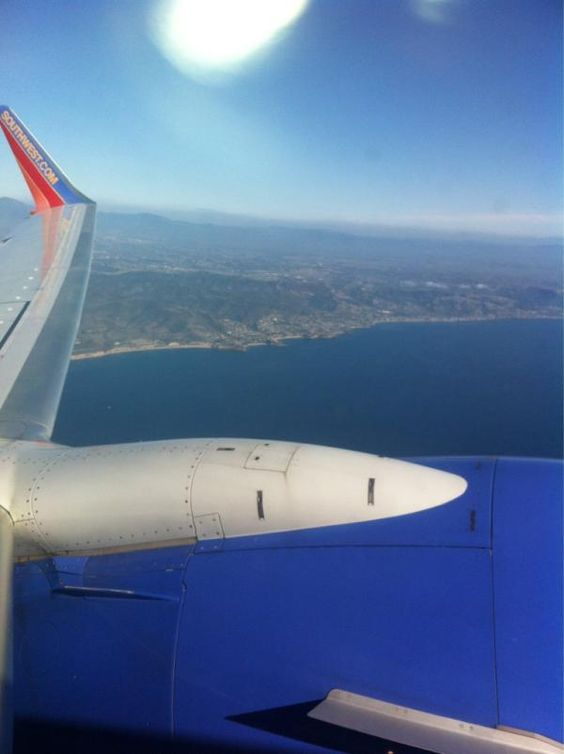 Leaving our crafty friends and loved ones.. and this sunny coast! Thanks Southwest Airlines for safe flights!