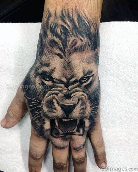 Creative Lion Tattoos Hd Images 11516 Liontattoos Tattoos Lion Hand Tattoo Lion Tattoo Design Hand Tattoos For Guys