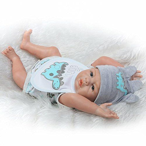 Pinky Real Looking 20 Inch Full Body Silicone Vinyl Reborn Baby Boy Doll Toddler