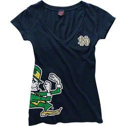 HOT ITEM: Notre Dame Fighting Irish Women's Navy Cossett Mascot Deep V-Neck Tee  #Irish #FightingIrish  http://www.fansedge.com/Notre-Dame-Fighting-Irish-Womens-Navy-Cossett-Mascot-Deep-V-Neck-Tee-_-233830252_PD.html?social=pinterest_pfid52-10524