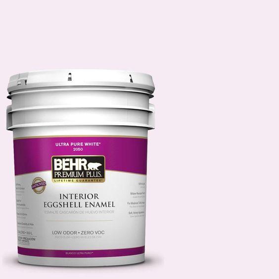 BEHR Premium Plus 5-gal. #690C-1 Sweet Illusion Zero VOC Eggshell Enamel Interior Paint