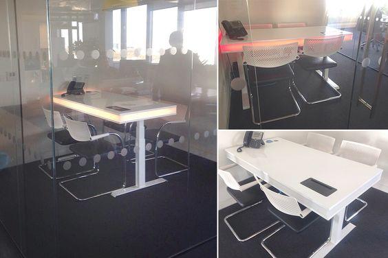 a versatile smart desk with ambient light for your diy project, Attraktive mobel