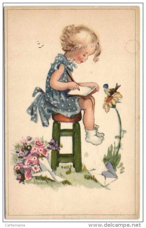 Postcards > Topics > Children > Unclassified - Delcampe.net