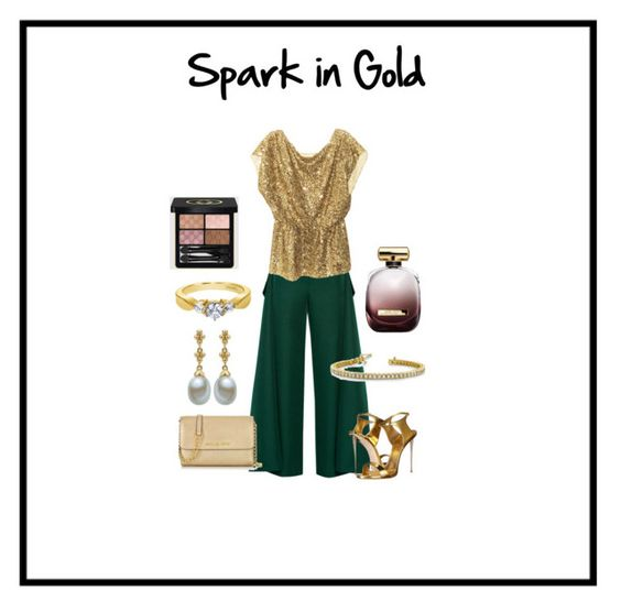 """""""Spark in Gold - Fine Jewelry"""" by idjewerly ❤ liked on Polyvore featuring Marni, Alice + Olivia, Giuseppe Zanotti, Michael Kors, Nina Ricci and Gucci"""