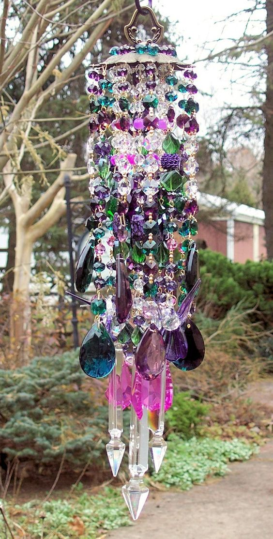 Bohemian Magic Antique Crystal Wind Chime -   Bohemian Wind Chime