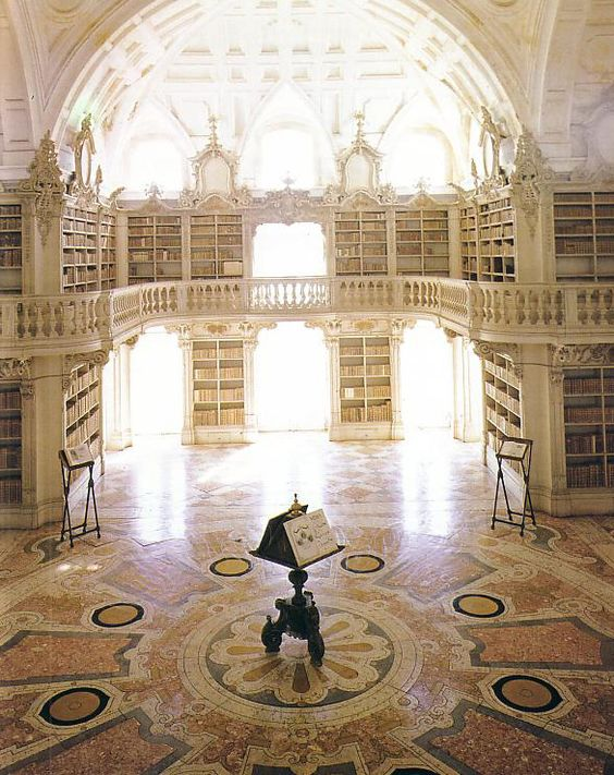 The most beautiful libraries in Europe Number 11 must be Portugal's King Joao V other baroque splendor at Mafra outside Lisbon