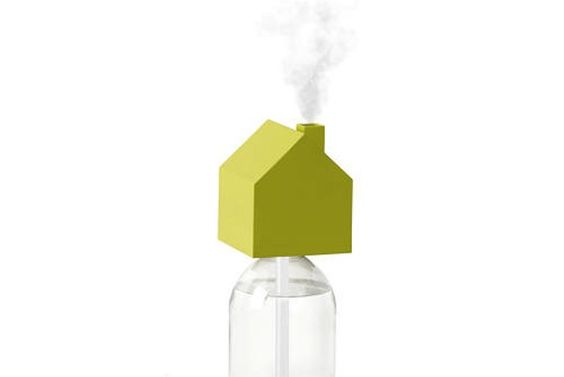 House-Shaped Travel Humidifier Perches Atop Any Water Bottle