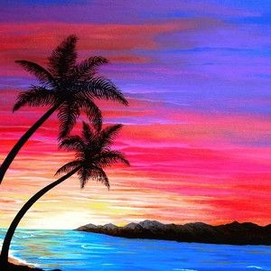 Solo View By Carol Sabo In 2021 Sunset Painting Sunset Painting Acrylic Scenery Paintings