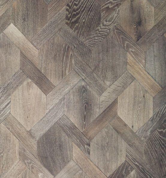Geometric wood floors