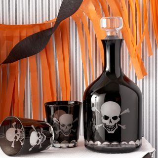 Skull Decanter and Glass Set  #home
