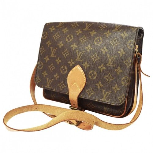 Pre Owned Louis Vuitton Cartouchiere Brown Cloth Handbag Modesens In 2020 Louis Vuitton Pre Owned Louis Vuitton Handbag Outfit