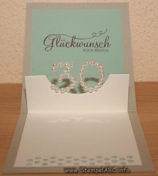 Karte zum hochzeitstag perlenhochzeit hochzeit wedding gold silber pinterest - 30 hochzeitstag geschenke ...