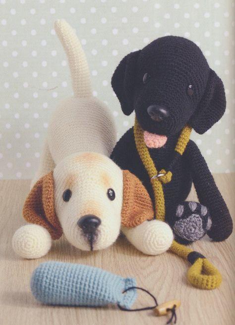 Häkelanleitung Labrador Abby, Anleitung um einen sitzenden Hund zu ... | 657x474