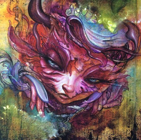 felina atrevida, colorida y con cara de venganza