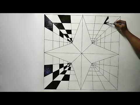 3d Optical Illusion Triangle 3d Wall Painting Mural Dinding Effect 3d Youtube Optical Illusion Wallpaper 3d Wall Painting Illusion Drawings