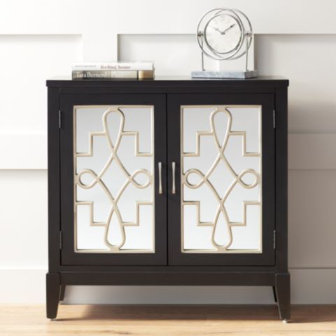 Mansfield 36 Black And Mirrored 2 Door Accent Media Cabinet 46w62 Lamps Plus Accent Doors Decor Unique Furniture Pieces