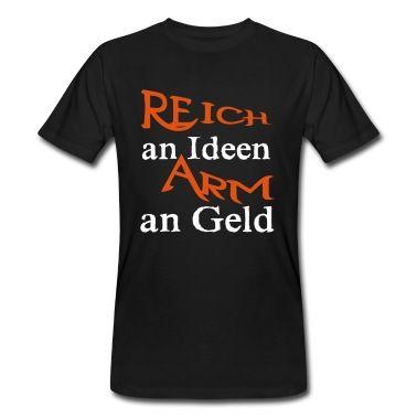 Witziger und spritziger Spruch auf hochwertigen Produkten. Für alle kreativen Köpfe, die für ihr Geld hart schuften müssen. #Ideen #Geld #kreativ #ADHS #Spruch #Sprüche #Shirts #T-Shirts #Kleidung #Geschenke