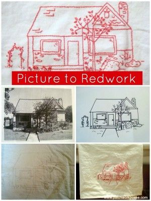 Embroidery tutorial- how to make your picture into a stitchery template. | patchwork posse #embroidery #redwork