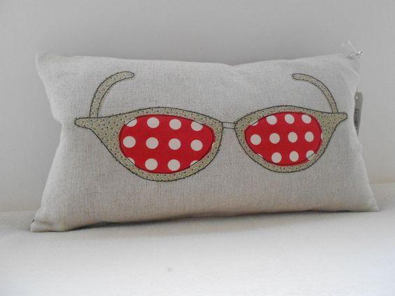 Retro Sunglasses Applique Cushion £22.50