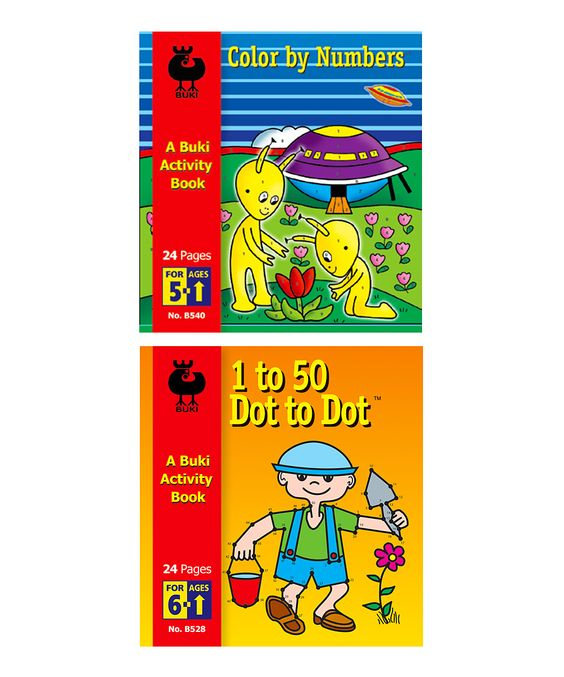 1 to 50 Dot to Dot & Color by Numbers Activity Book Set