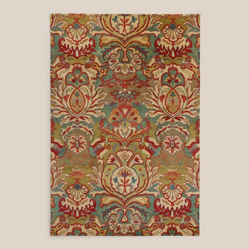 Floral Medallion Tufted Wool Area Rug Wool To Die For