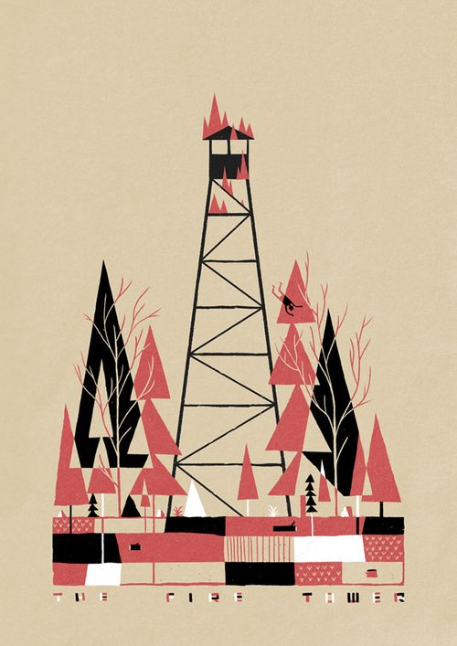 Red and Black by Luke Pearson, via Behance