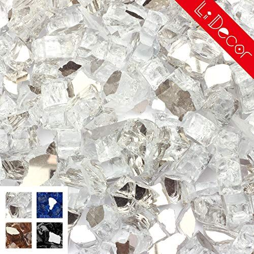 Amazing Offer On Li Decor 20pound 1 2 Inch Fire Glass High Luster Tempered Fireglass Outdoor Crystal Starlight Reflective Online Thetophitsclothing In 2020 Fire Glass Glass Fire Pit Fire Table