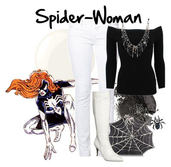 Spider-Woman II by amarie104 on Polyvore featuring polyvore fashion style Michael Kors even&odd Anna Field Bernard Delettrez Betsey Johnson Deborah Lippmann clothing