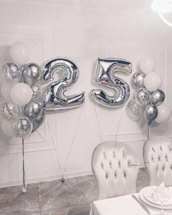 25 Anniversario Anniversario Feste Di Compleanno A Sorpresa Compleanno Con Palloncini