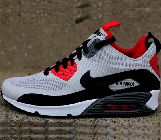 reebok sneaker - Nike Air Max 90 Mid � Dusty Grey / Black � Challenge Red � Gym Red ...