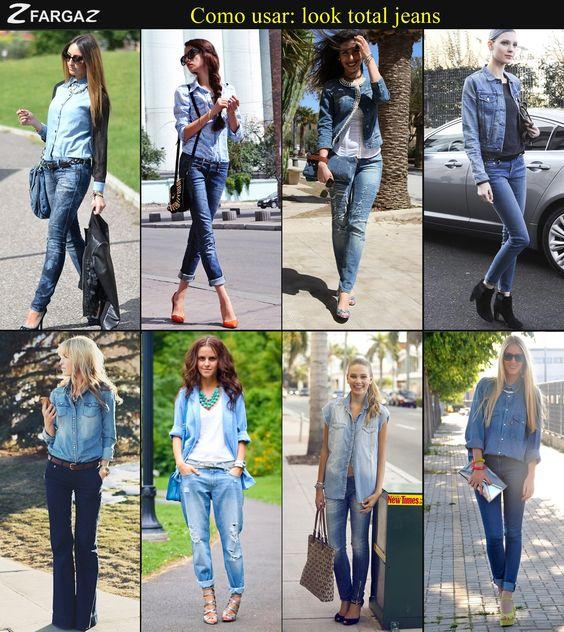 Fique por dentro da moda do total jeans! Inspire-se nesses looks que separamos para você! Curtiu?