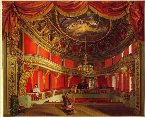 Vue intérieure du théâtre de la reine Marie-Antoinette au Petit Trianon, Asselineau Antoinette