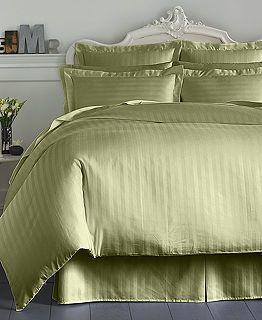 Charter Club Damask Stripe 500 Thread Count Duvet Cover $109