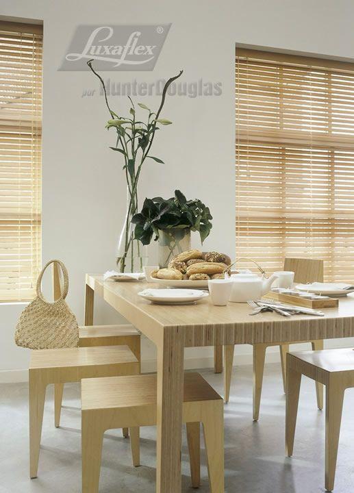Persianas de madera luxaflex comedores pinterest - Persianas luxaflex ...